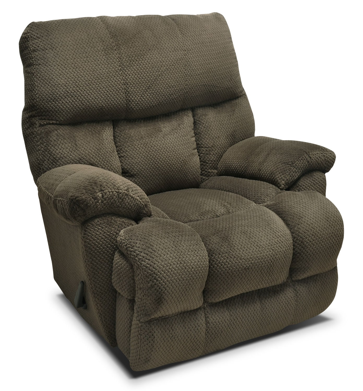 Living Room Furniture - Hugo Plush Fabric Reclining Chair – Mocha