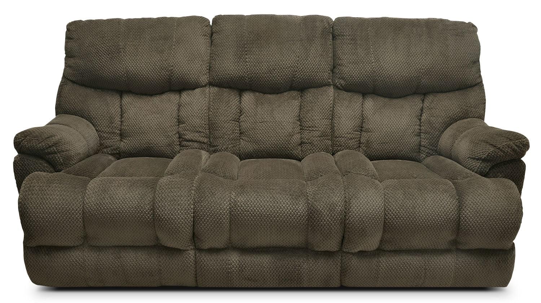 Hugo Plush Fabric Reclining Sofa – Mocha