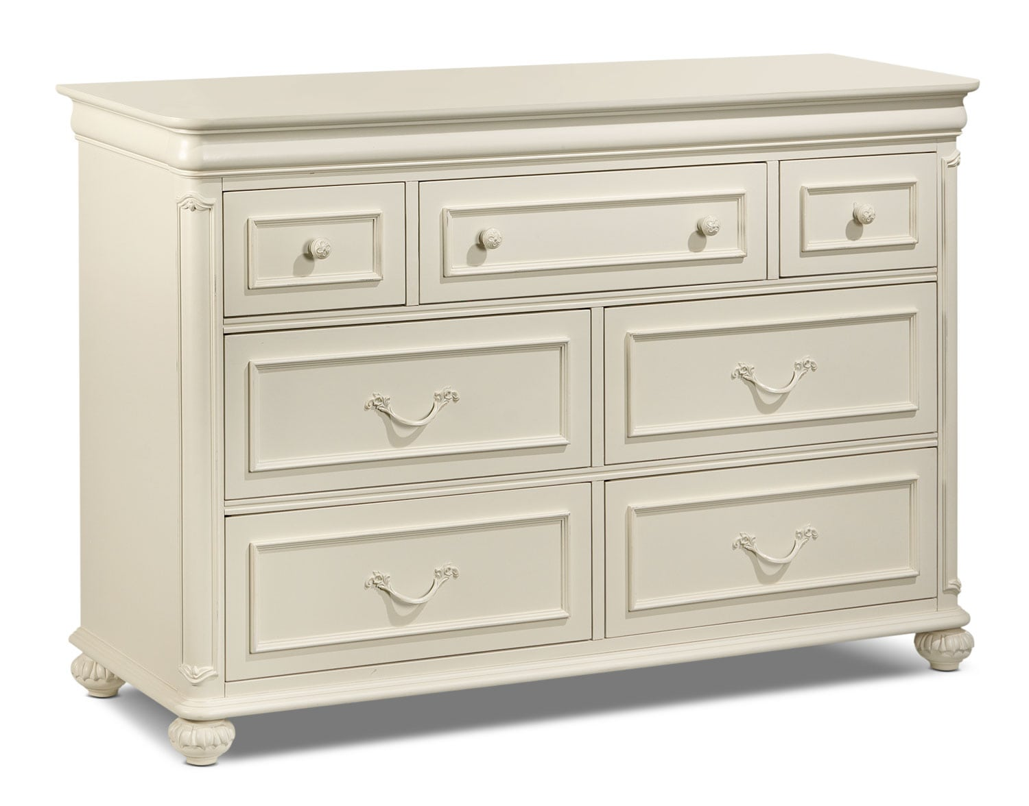 Bedroom Furniture - Amber Dresser - Antique White