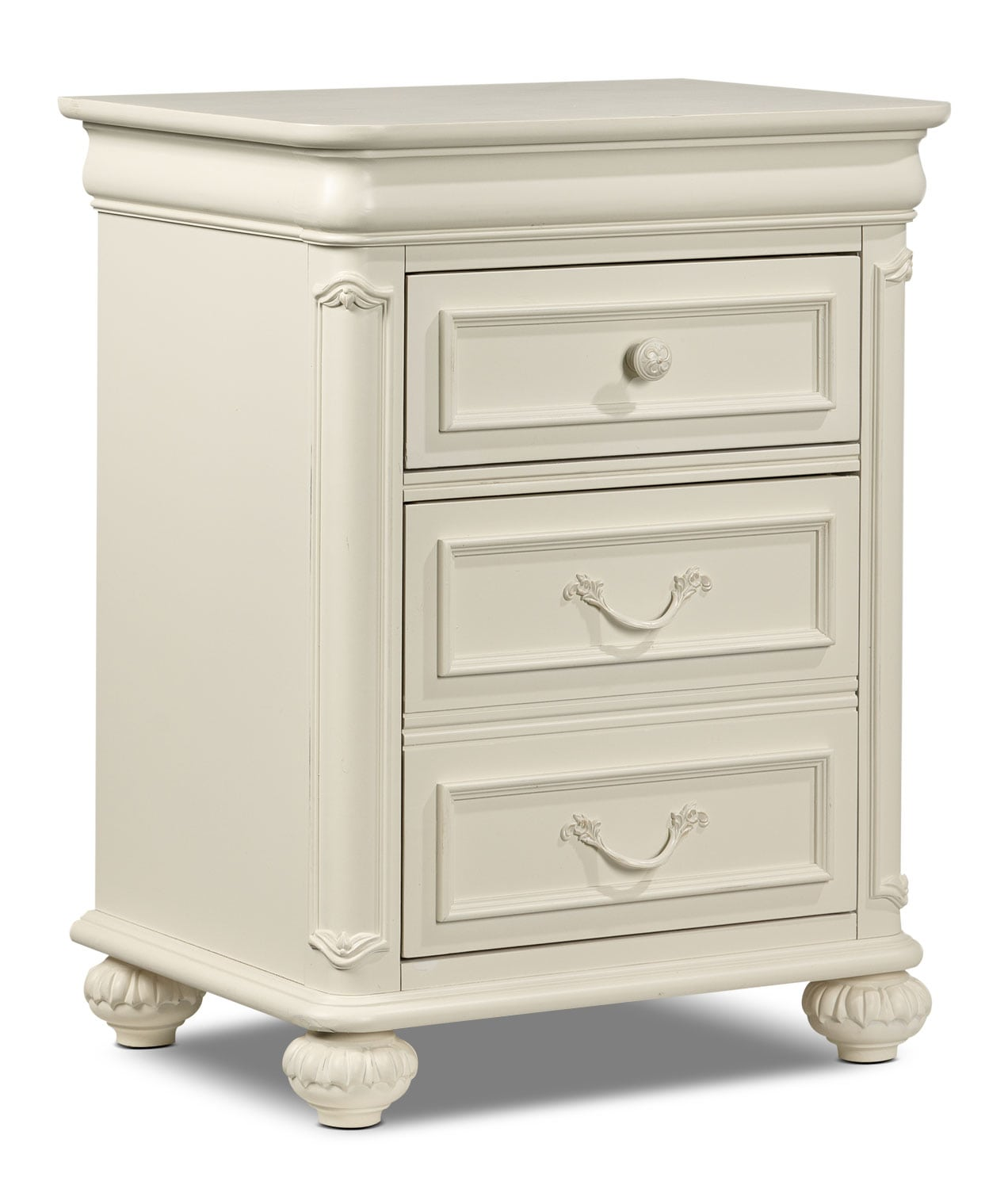 Bedroom Furniture - Amber Night Table - Antique White