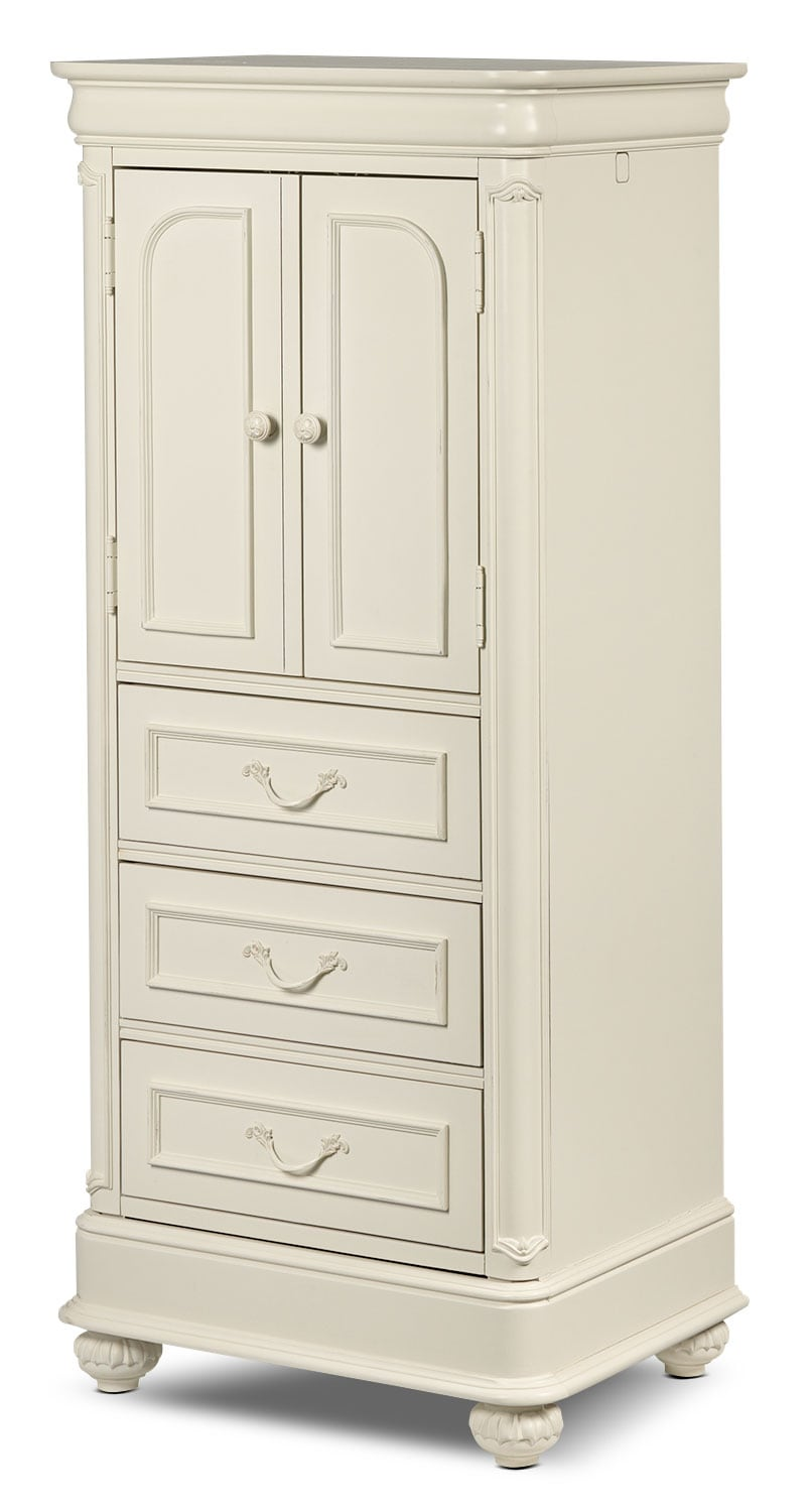 Bedroom Furniture - Amber Wardrobe - Antique White