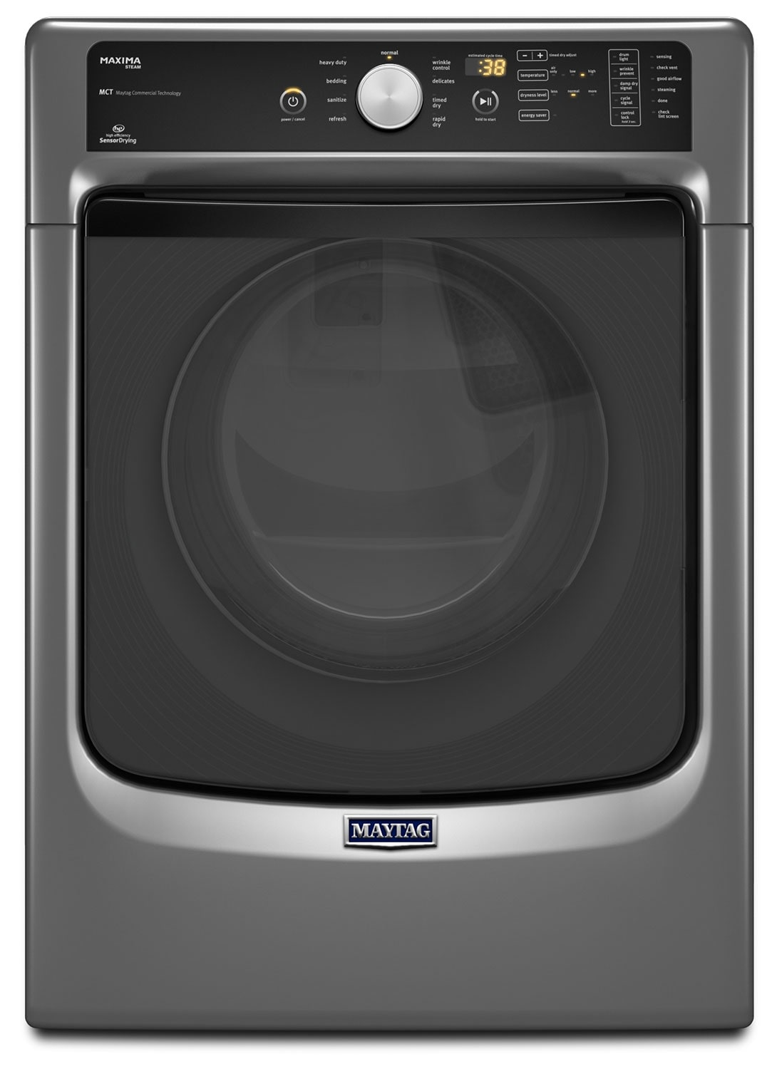 Washers and Dryers - Maytag Metallic Slate Electric Dryer (7.3 Cu. Ft.) - YMED5100DC