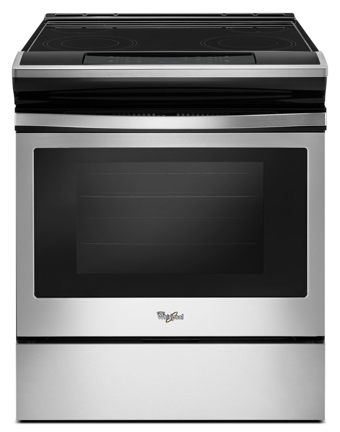 Whirlpool® 4.8 Cu. Ft. Guided Electric Front Control Range with the Easy-Wipe Ceramic Glass Cooktop