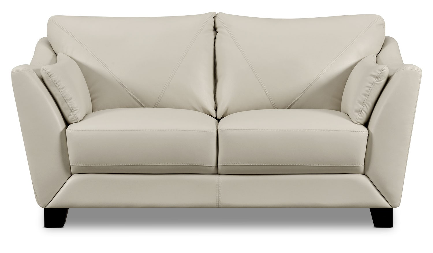 Laken Genuine Leather Loveseat – Smoke