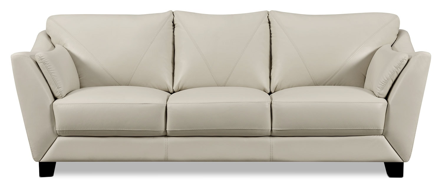Living Room Furniture - Laken Genuine Leather Sofa – Smoke