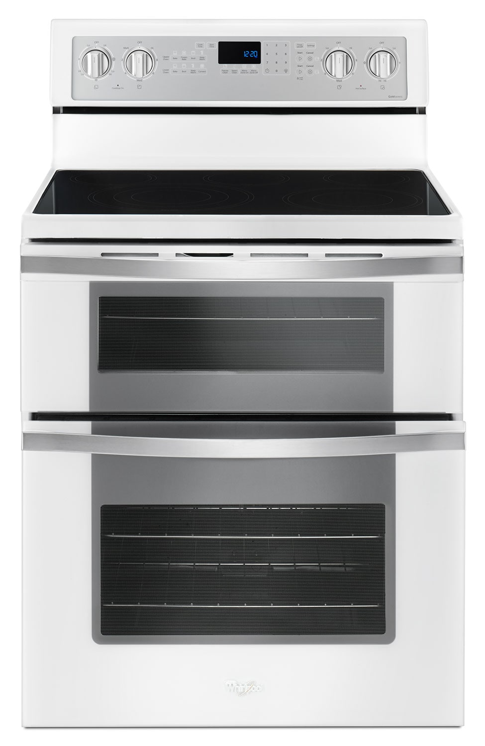Cooking Products - Whirlpool White Electric Double Range (6.7 Cu. Ft.) - YWGE745C0FH