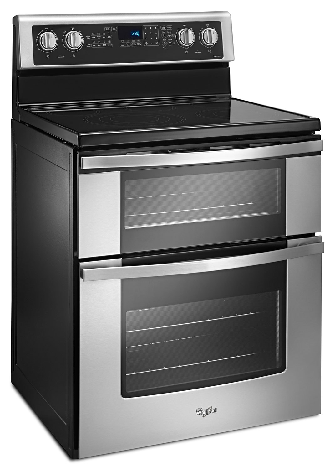 whirlpool stainless steel electric double range 67 cu ft ywge745c0fs - Double Oven Electric Range