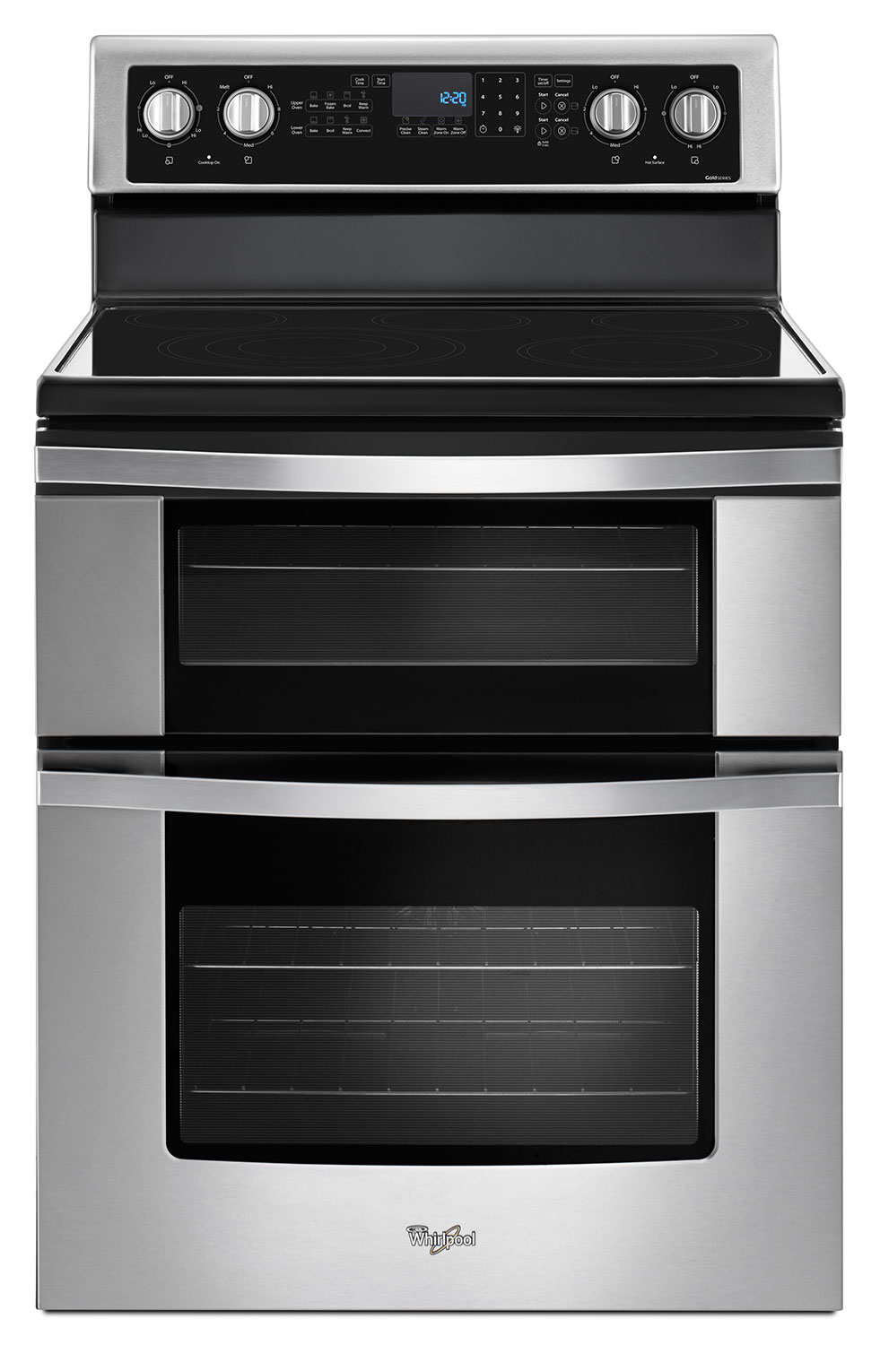 Cooking Products - Whirlpool® 6.7 Cu. Ft. Electric Double Oven Range with True Convection