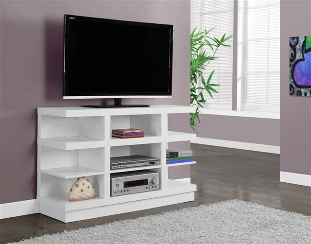 Entertainment Furniture - Online Only - Mercer TV Stand - White