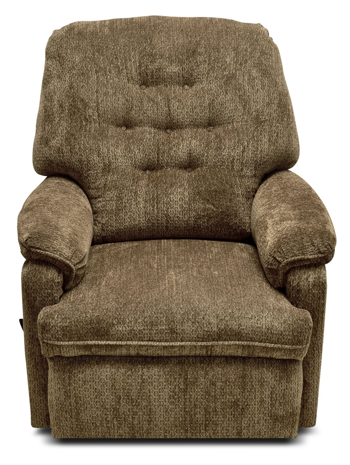 Living Room Furniture - Ella Chenille Rocker Reclining Chair – Beige