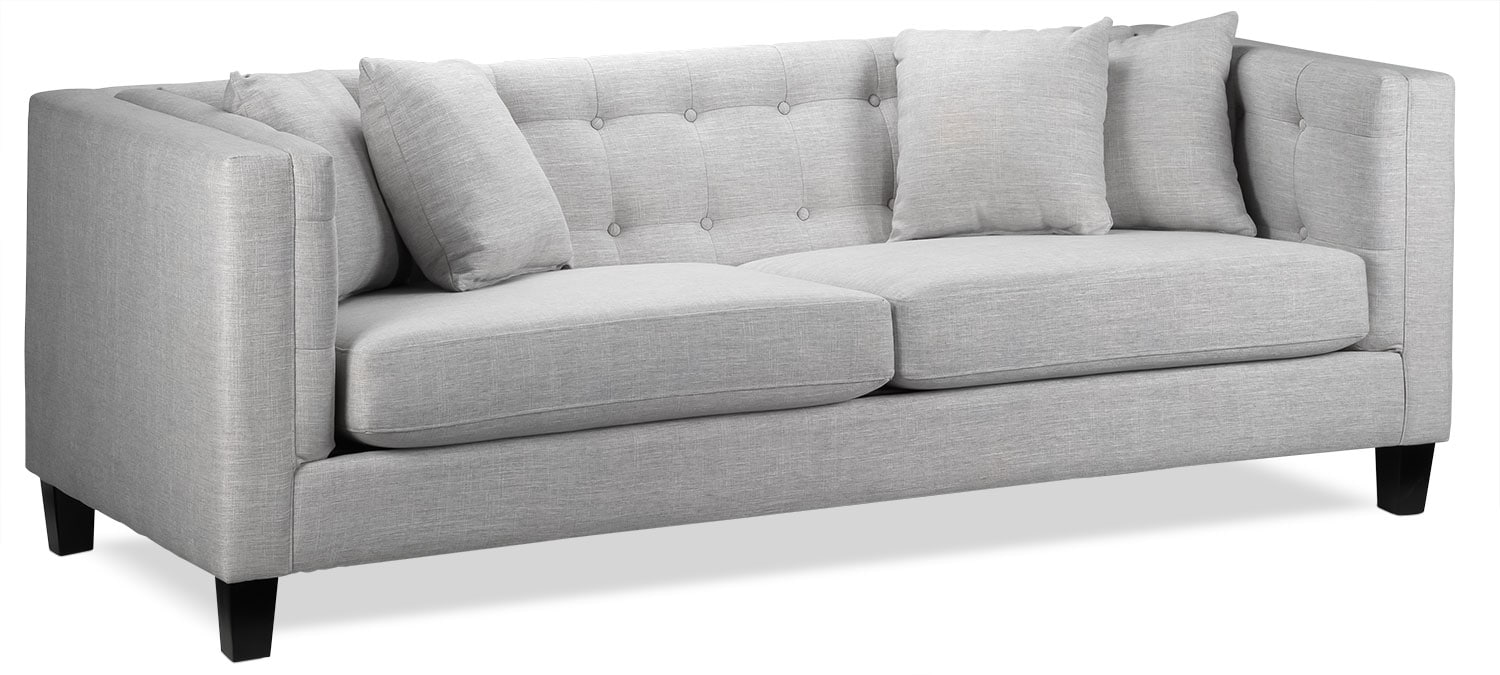 Living Room Furniture - Astin Sofa - Grey