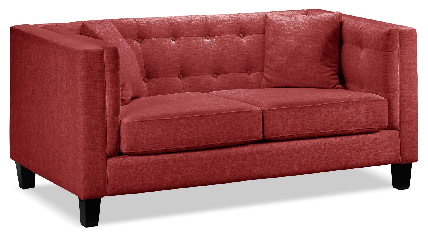 Living Room Furniture - Astin Loveseat - Red