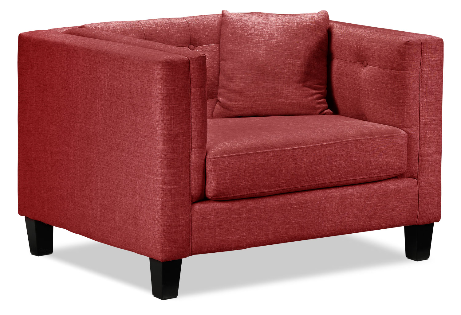 Living Room Furniture - Astin Chair and a Half - Red