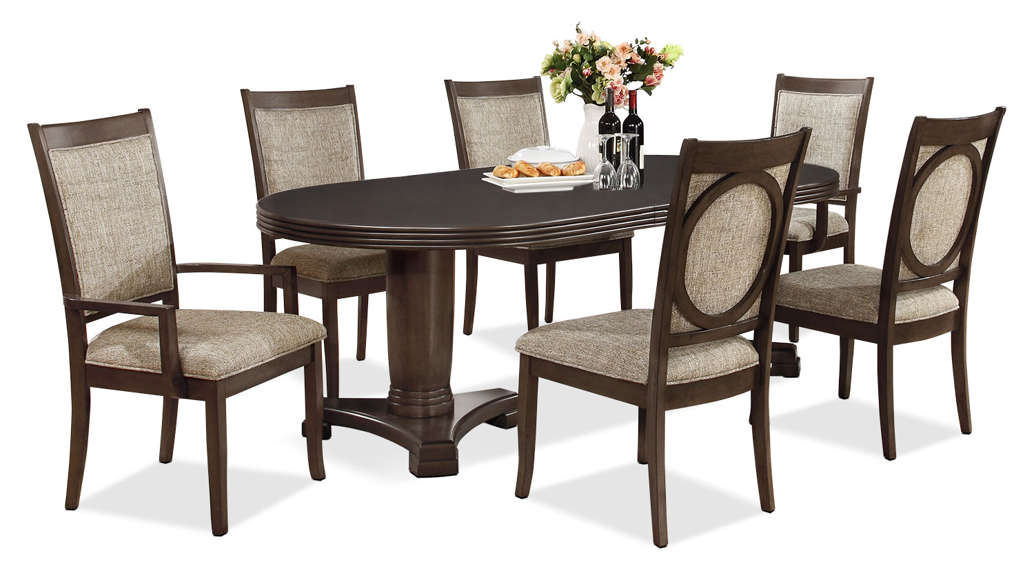 Dining Room Furniture - Beaumont 7-Piece Dining Package