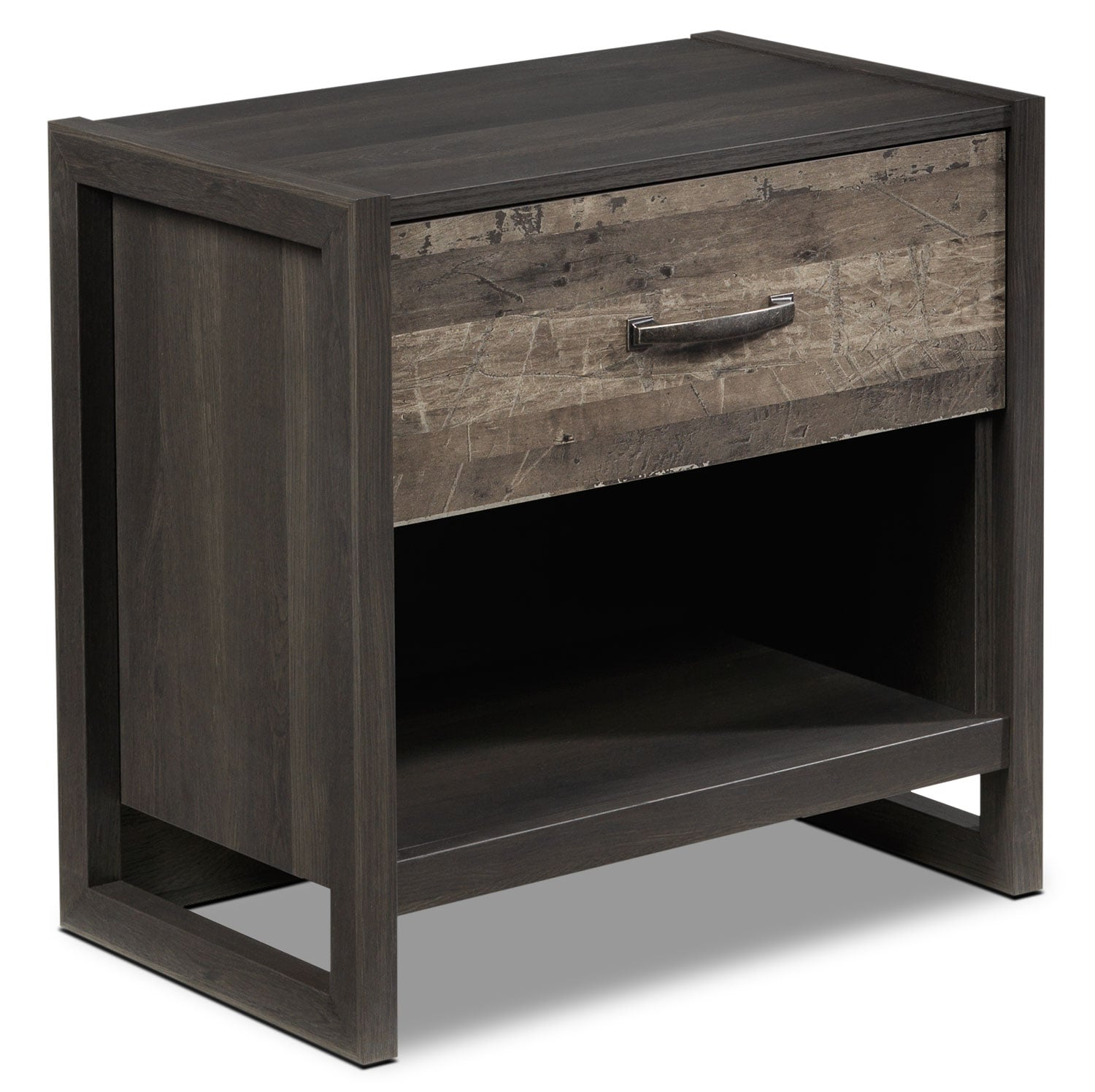 Hudson Night Table - Rustic Brown