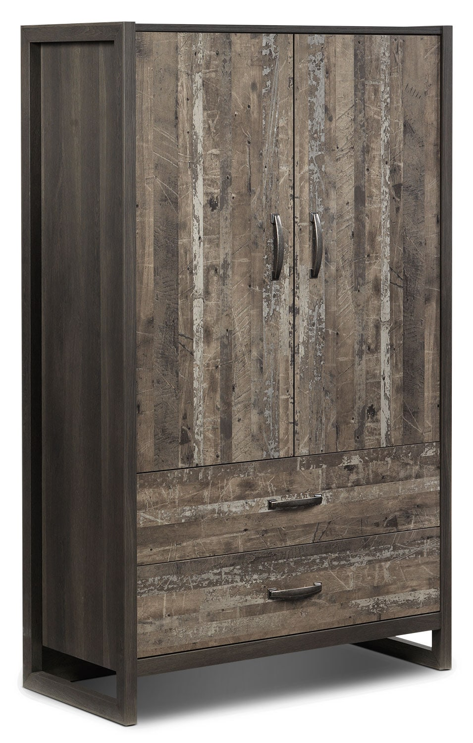 hudson armoire  rustic brown  leon's - hover to zoom