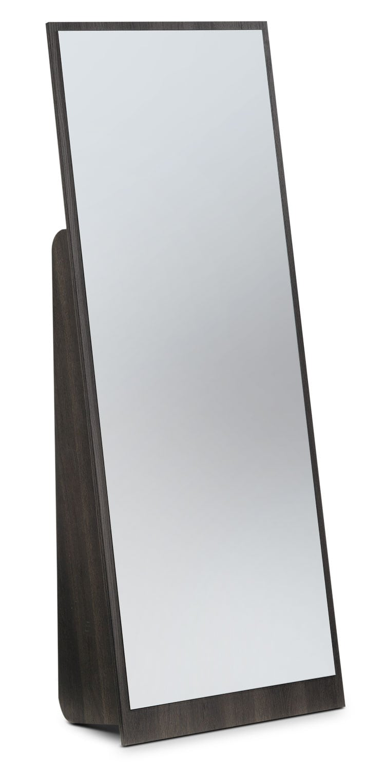 Bedroom Furniture - Hudson Floor Mirror - Rustic Brown