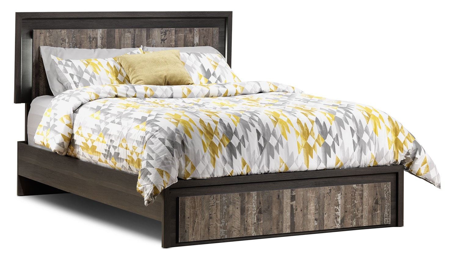 Hudson Queen Bed - Rustic Brown