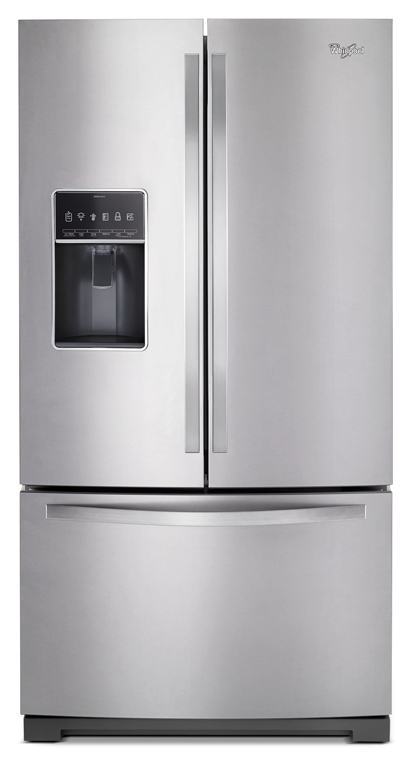 Refrigerators and Freezers - Whirlpool Stainless Steel French Door Refrigerator (26.8 Cu. Ft.) - WRF767SDEM