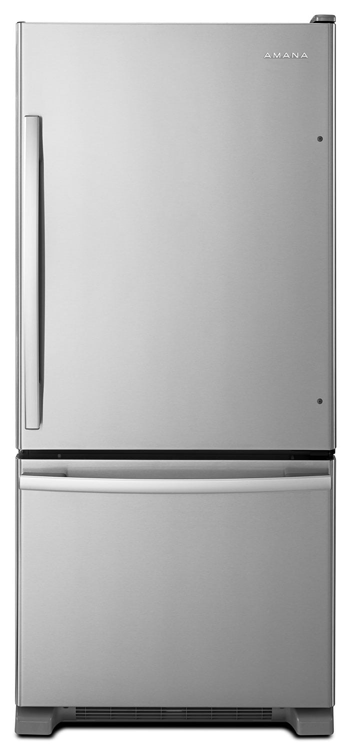Amana 18 Cu. Ft. Bottom-Mount Refrigerator – ABB1924BRM