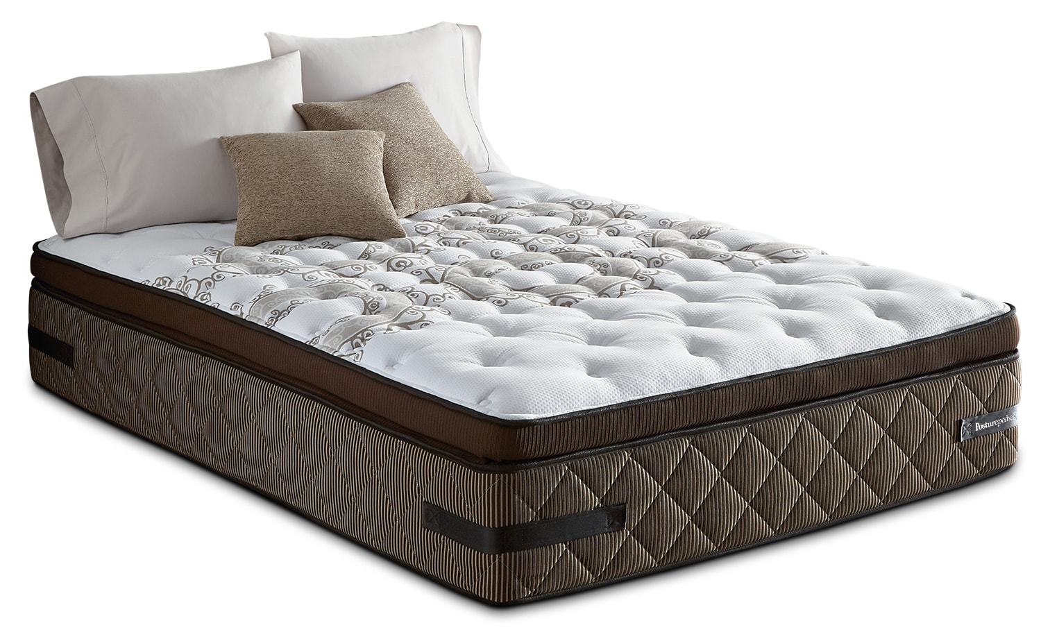 Mattresses and Bedding - Sealy Crown Jewel Sunsera Euro Pillow-Top Firm King Mattress