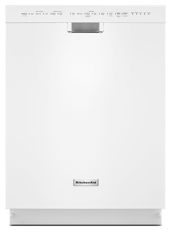 Clean-Up - KitchenAid White Dishwasher - KDFE204EWH