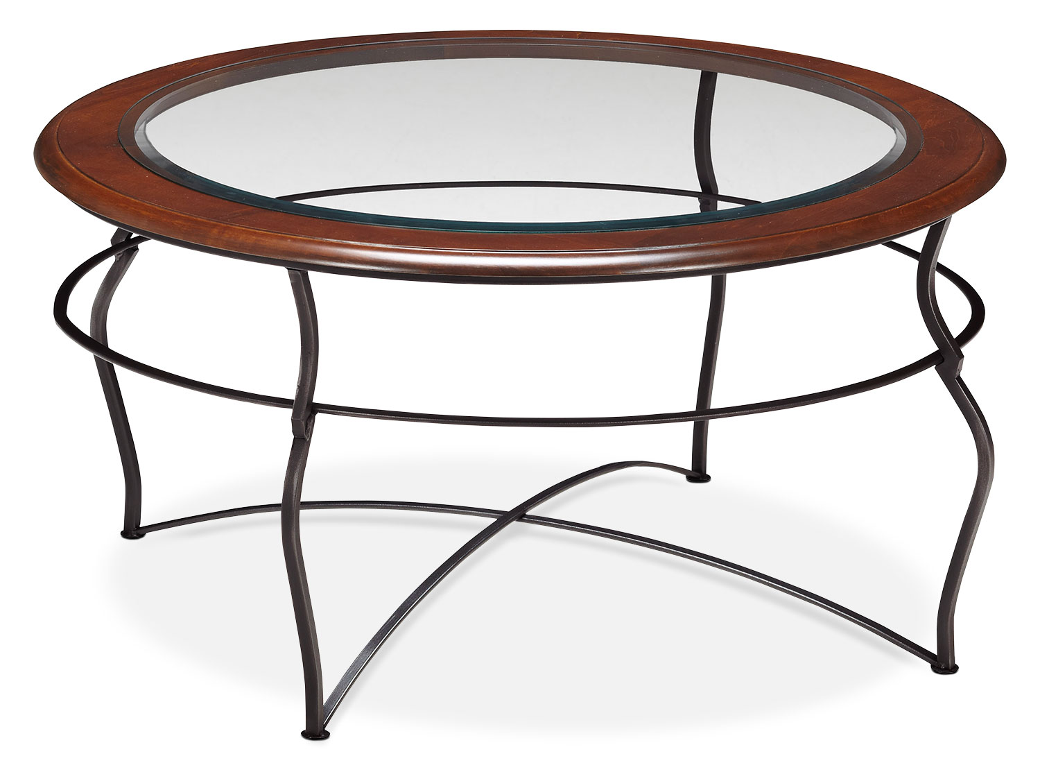 Accent and Occasional Furniture - Online Only - Adele Coffee Table - Glass Top with Black Base