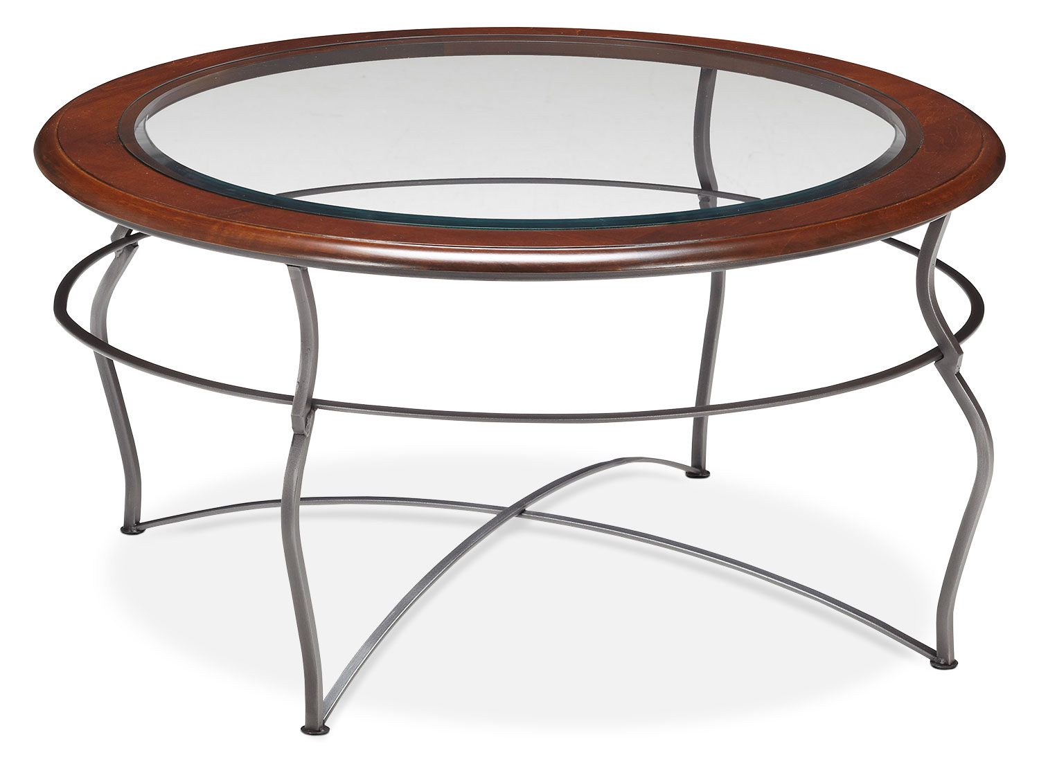 Accent and Occasional Furniture - Online Only - Adele Coffee Table - Glass Top with Pewter Base