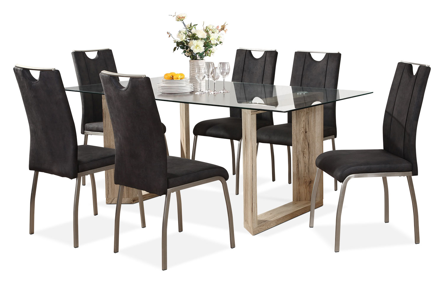 Dining Room Furniture - Aiden 7-Piece Dining Package