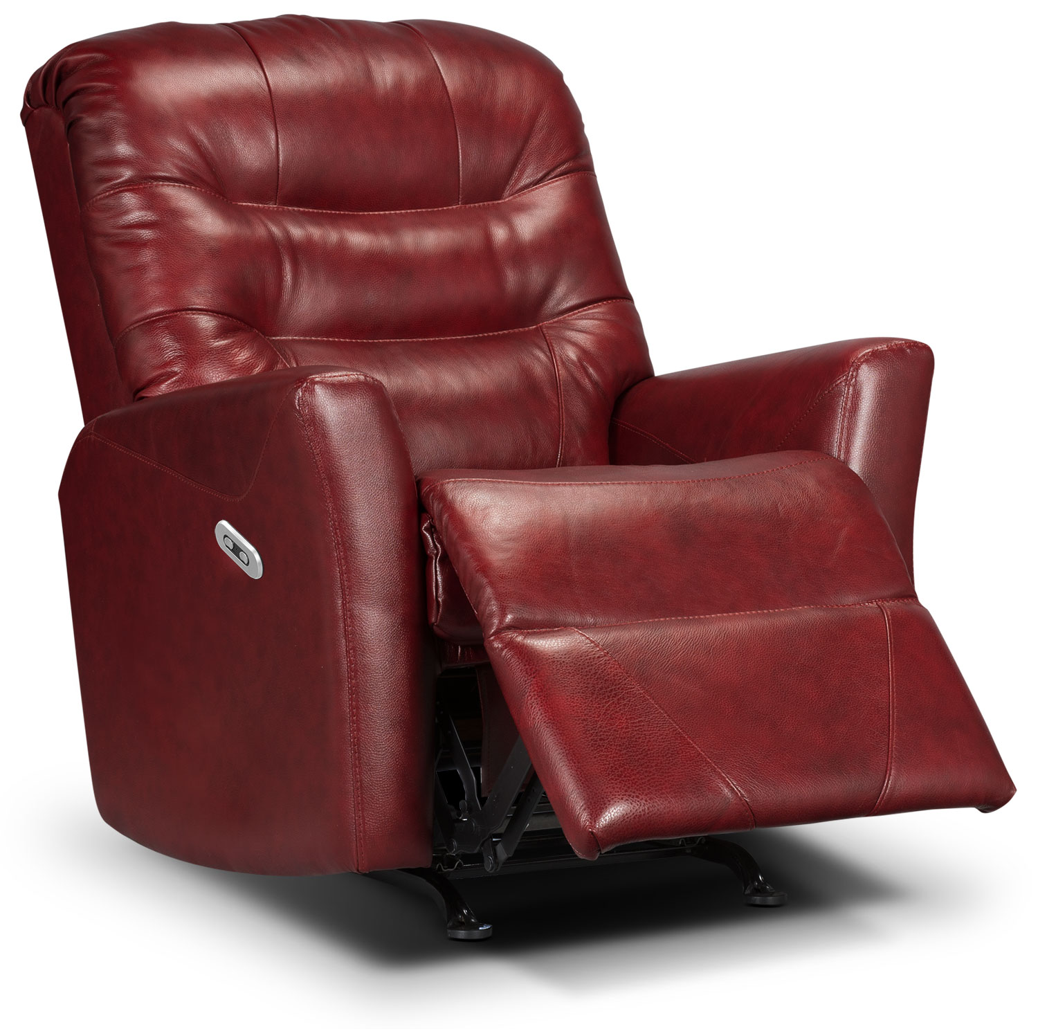 Living Room Furniture - Designed2B Recliner 4560 Genuine Leather Power Recliner - Paprika