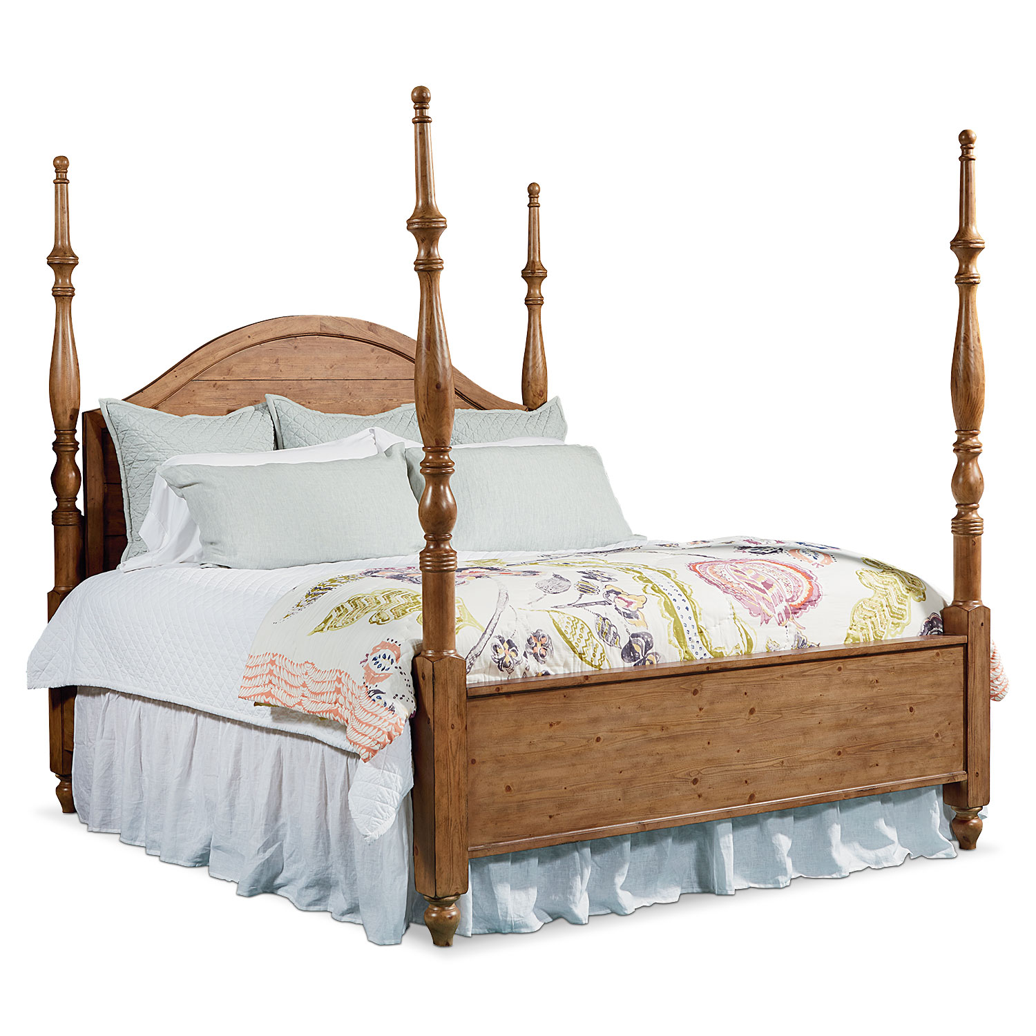 queen primitive camelback post bed american signature furniture