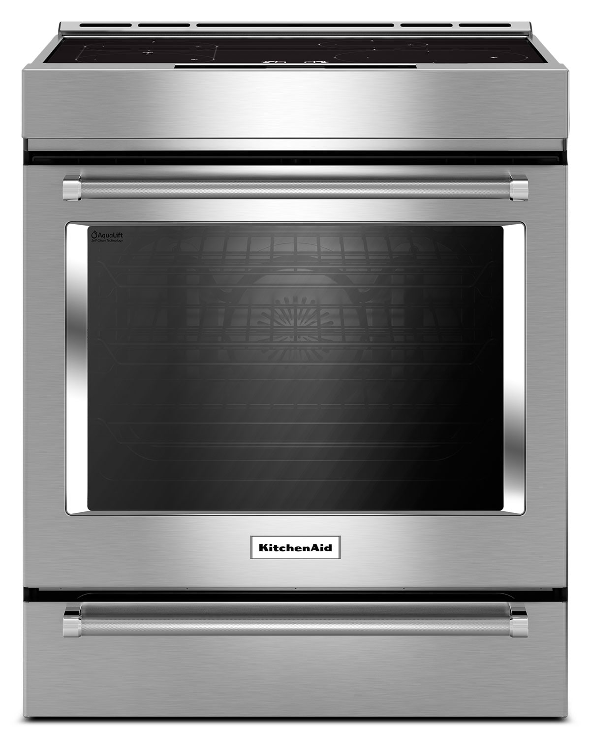 Cooking Products - KitchenAid Stainless Steel Slide-In Electric Range (7.1 Cu. Ft.) - KSIB900ESS