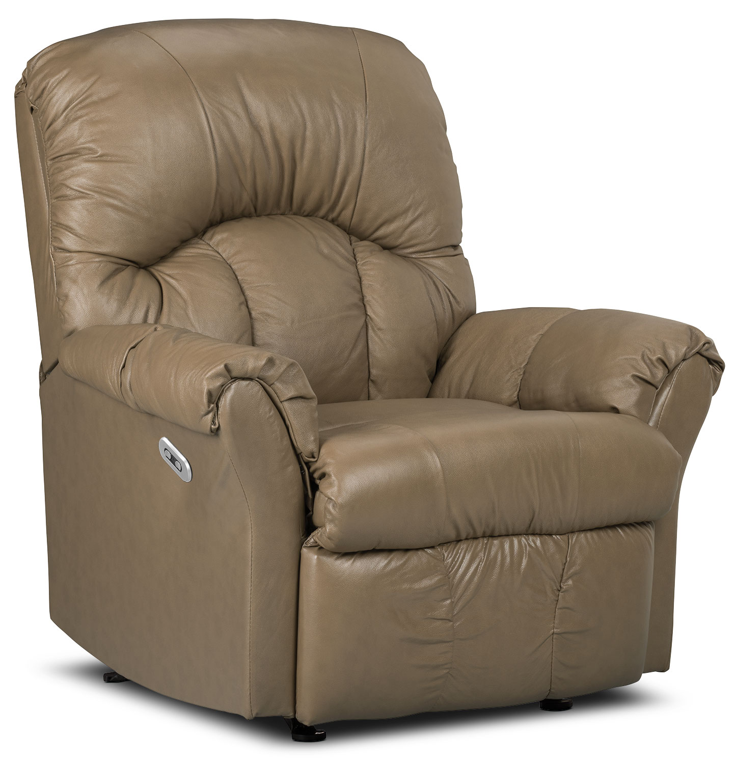 Designed2B Recliner 6734 Genuine Leather Power Recliner Chair - Buff