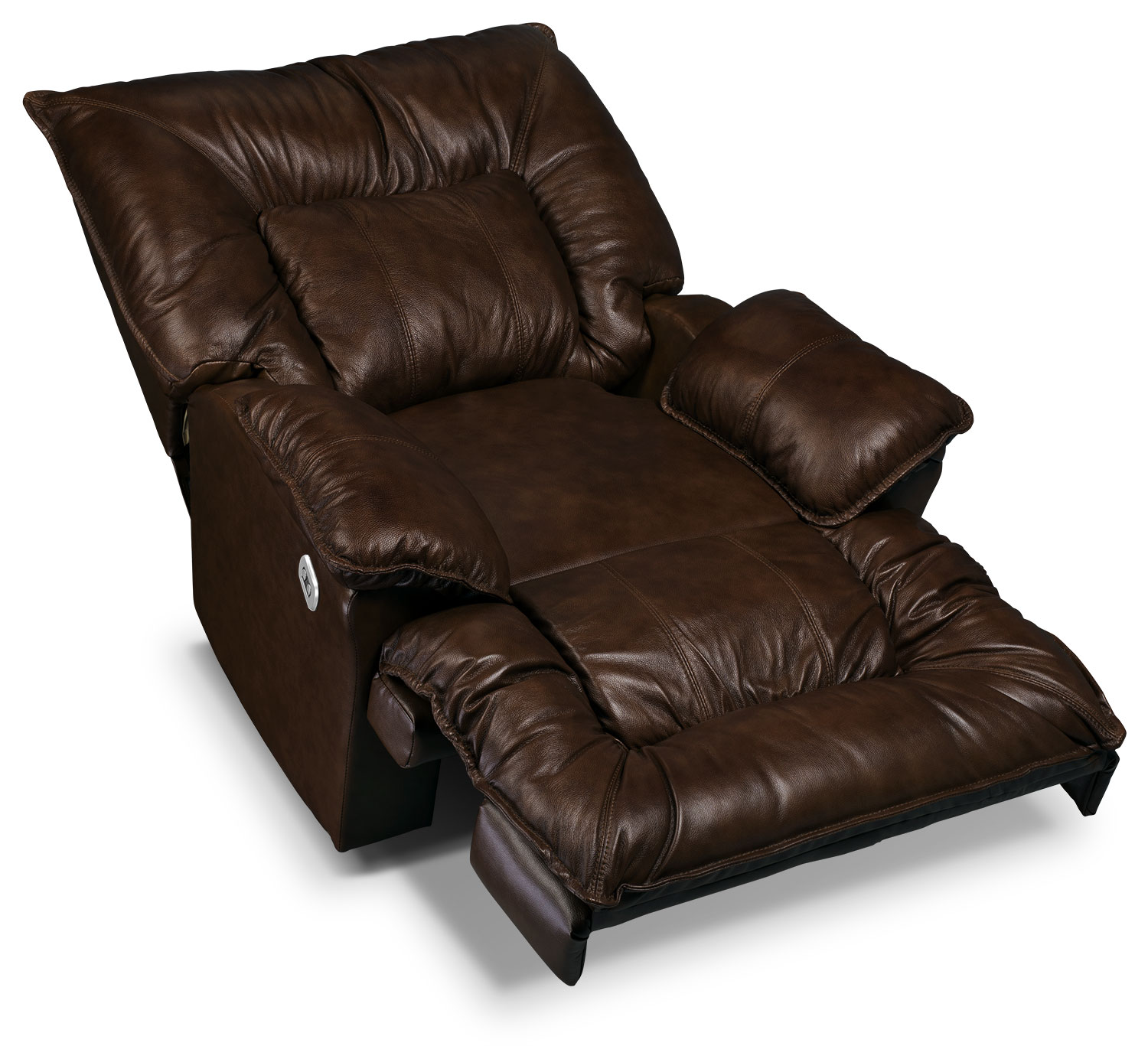 Designed2b Recliner 7726 Genuine Leather Power Lay Flat