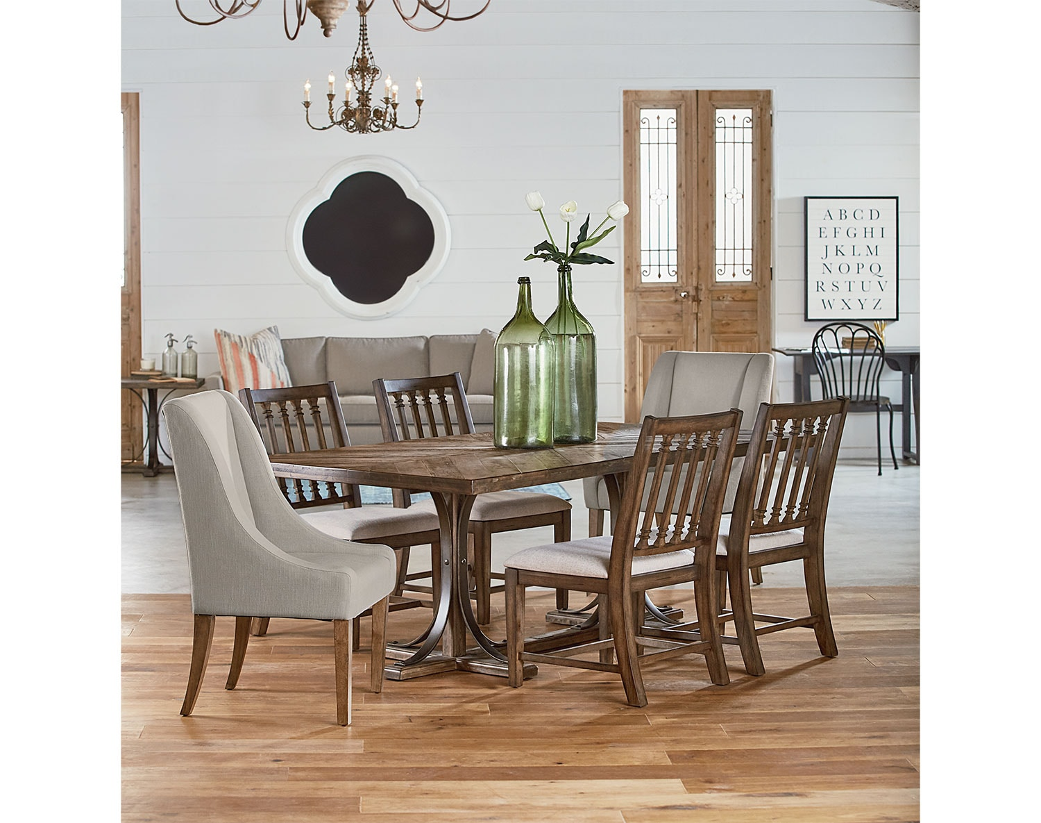 dining room furniture from magnolia home value city furniture. Black Bedroom Furniture Sets. Home Design Ideas