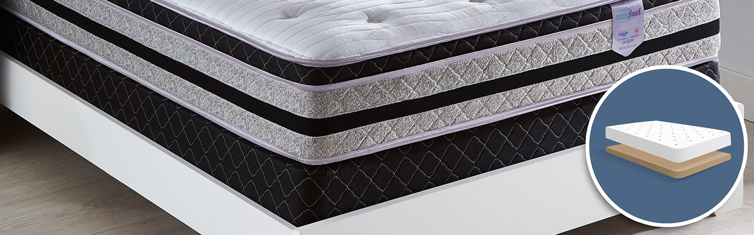 Mattresses and Bedding - Springwall Body Fuel 2016 Low-Profile Queen Boxspring