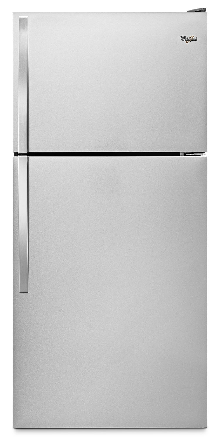 Whirlpool® 18.2 Cu. Ft. Top-Mount Refrigerator with Flexi-Slide™ Bin – Stainless Steel