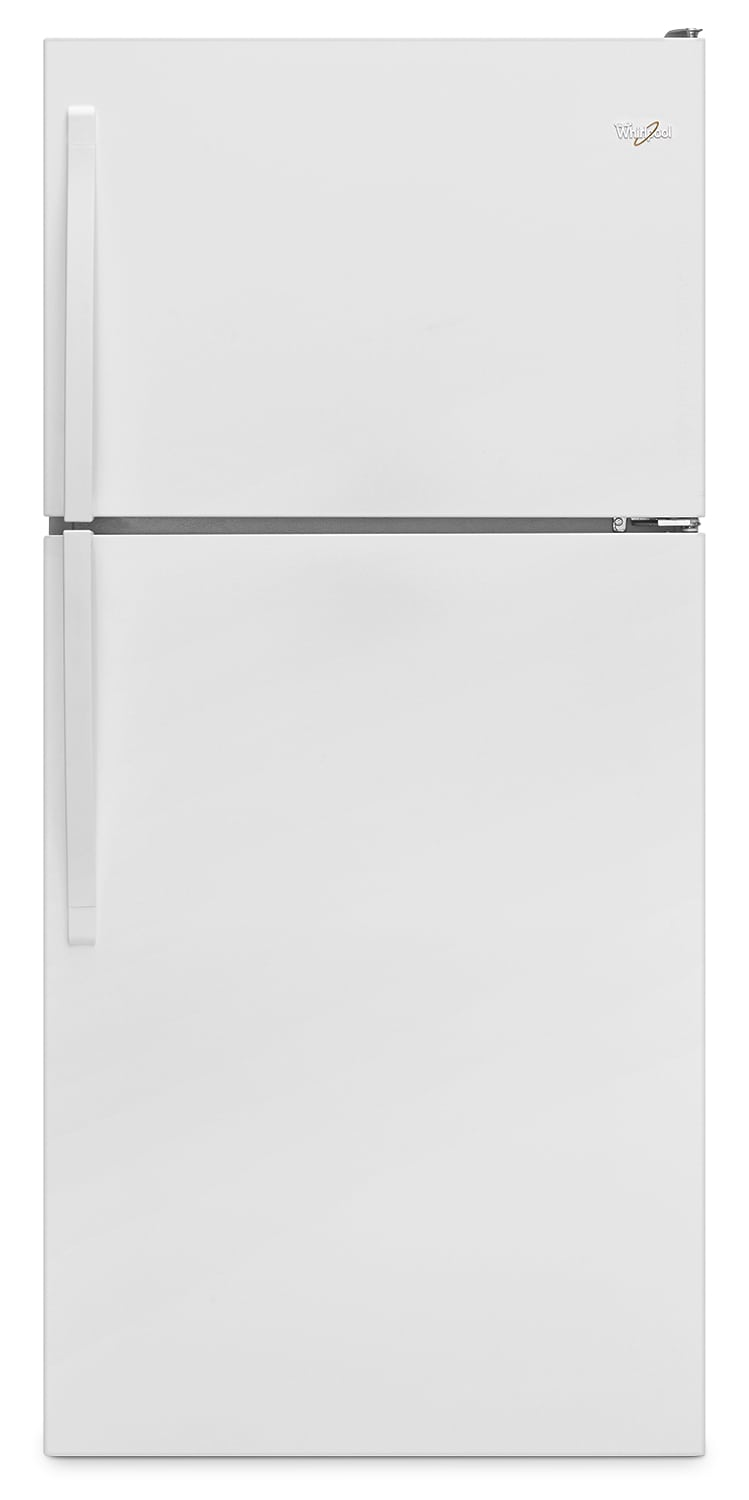 "Whirlpool® 18.2 Cu. Ft. 30"" Wide-Top Freezer Refrigerator – White"