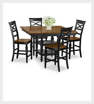 Chop the Chesapeake 5 piece Counter Height Dinette