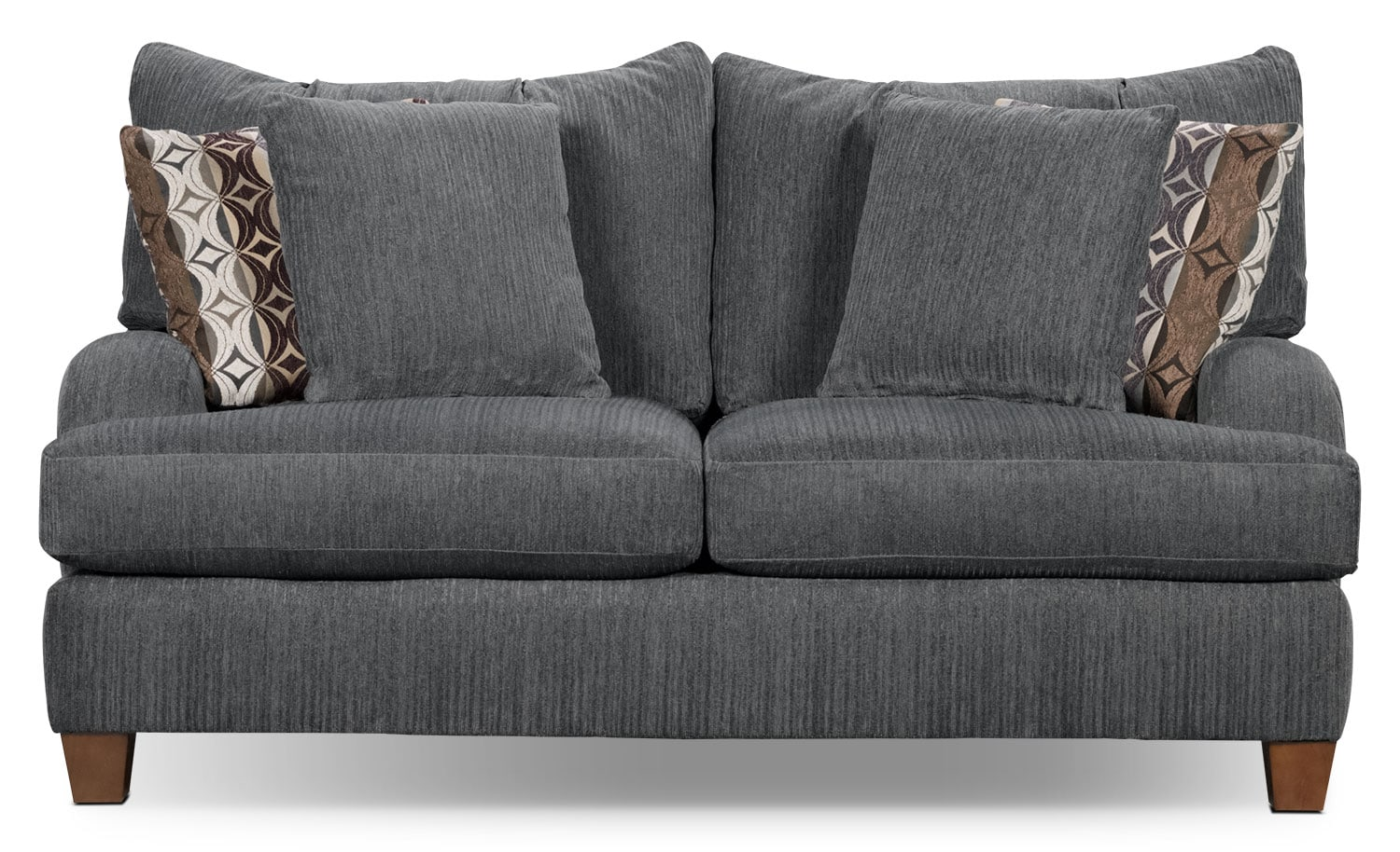 Living Room Furniture - Putty Chenille Loveseat - Grey