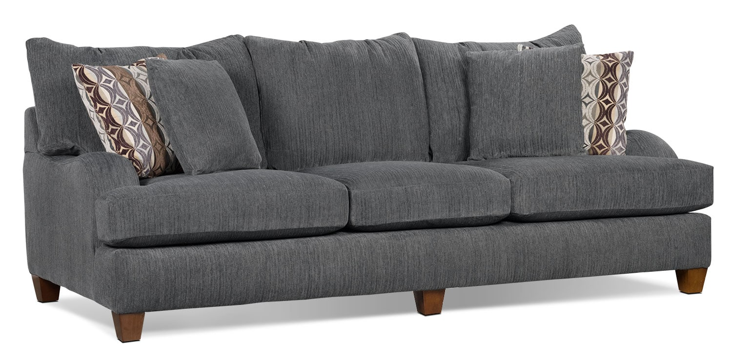 Putty chenille sofa grey united furniture warehouse Chenille sofa and loveseat