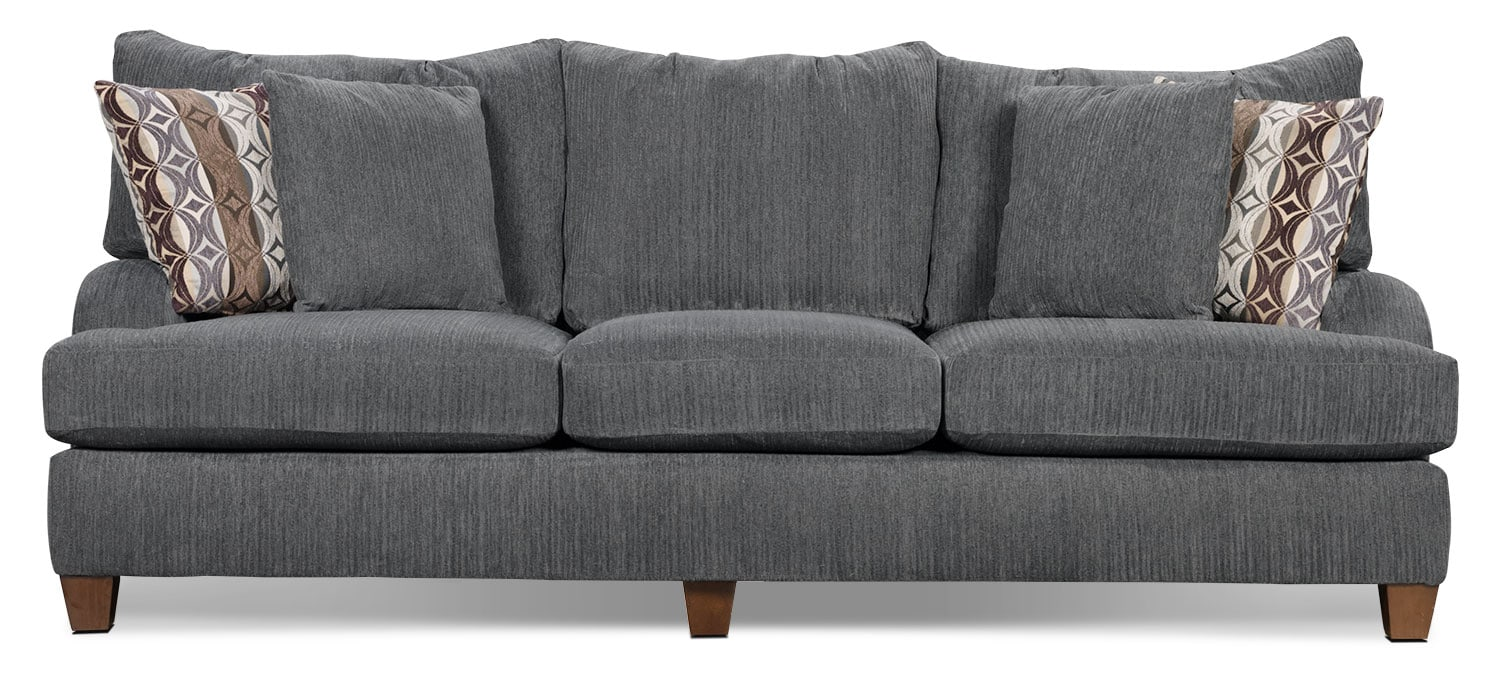 Putty chenille sofa grey the brick for What is a divan