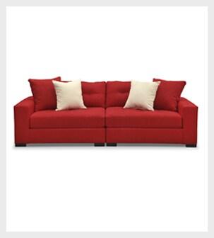 Shop the Venti Red 2 piece Sofa