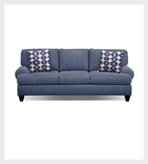 Shop the Bailey Blue 79 inch Sofa with Memory Foam Sleeper