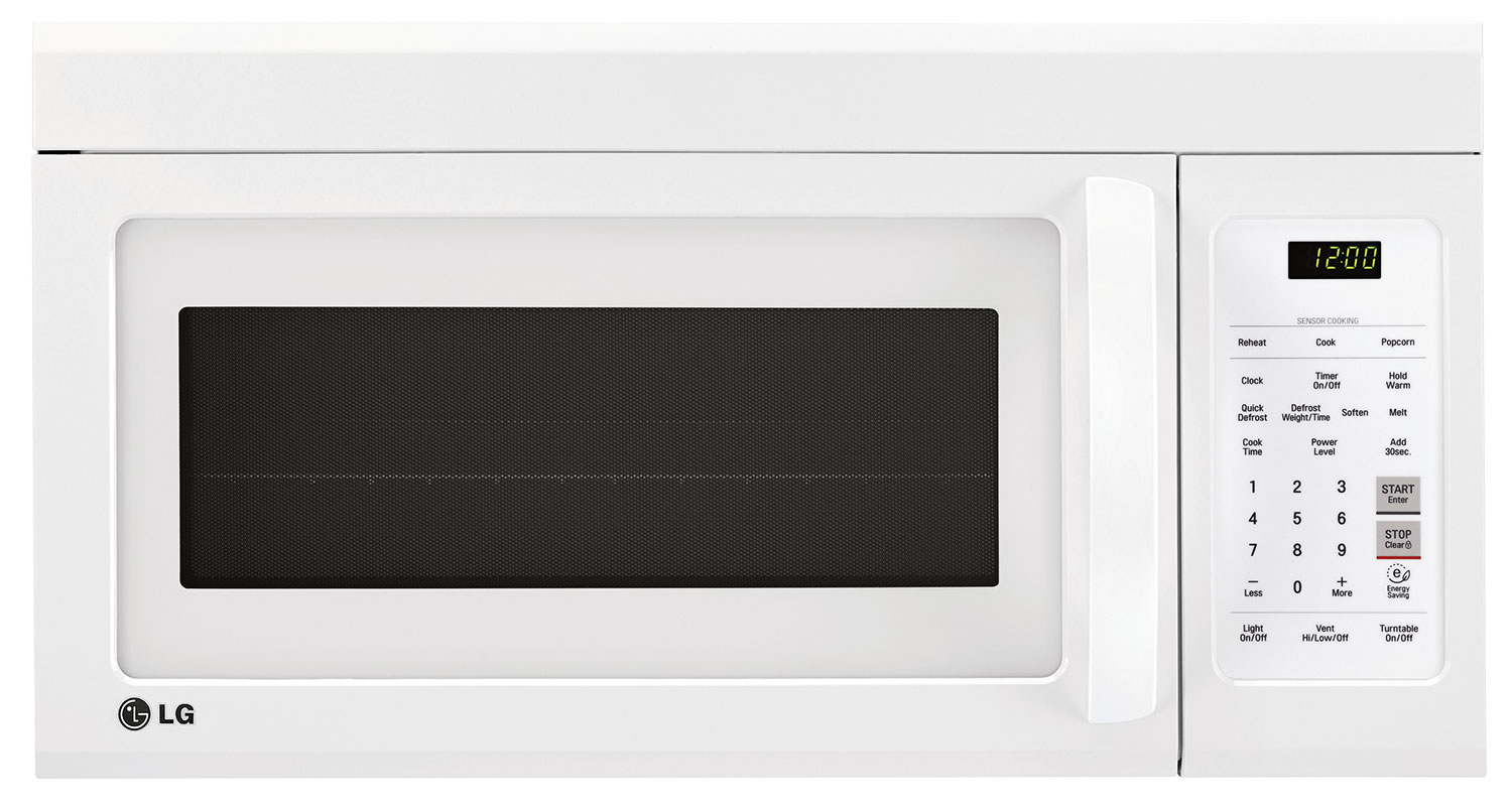 Lg Appliances White Over The Range Microwave 1 8 Cu Ft