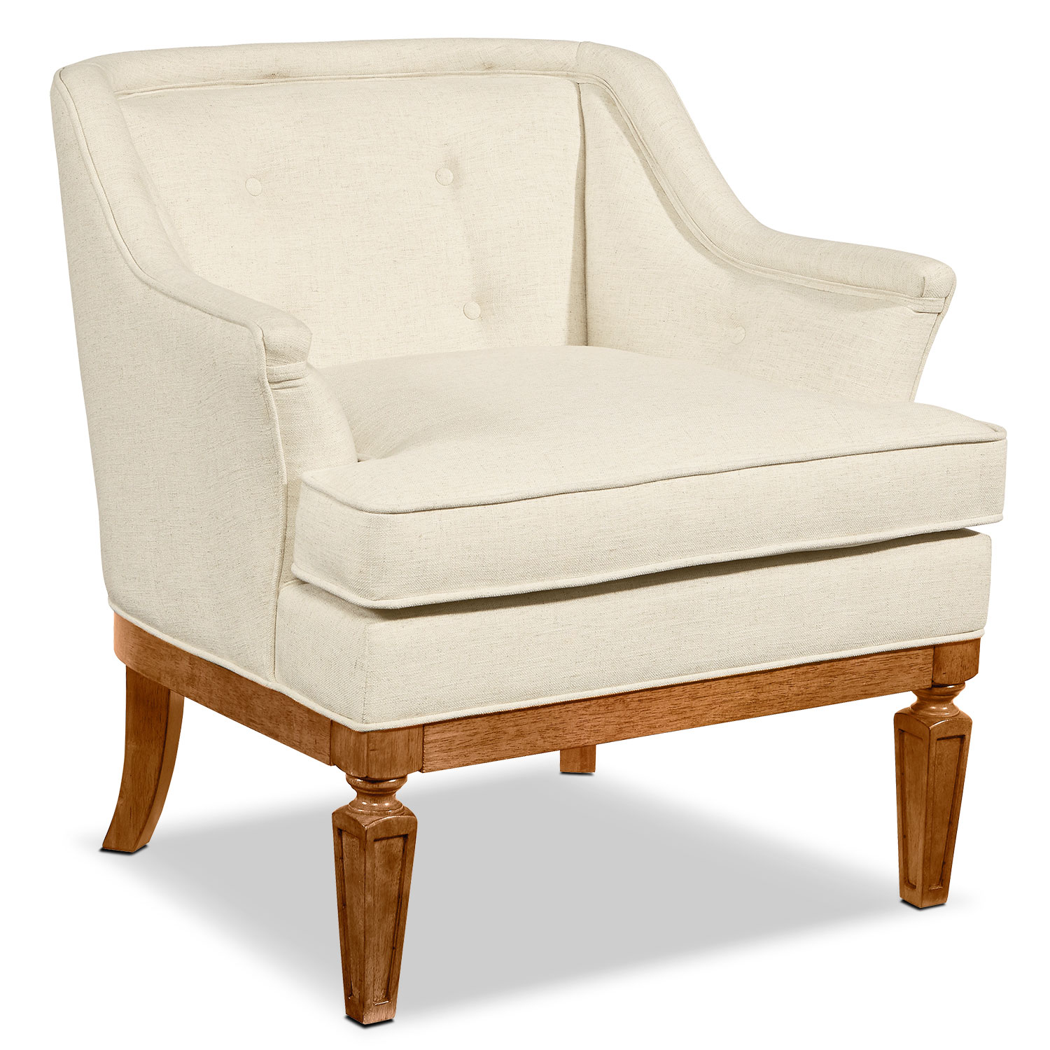 Ivory Living Room Furniture: Cotillion Accent Chair - Ivory