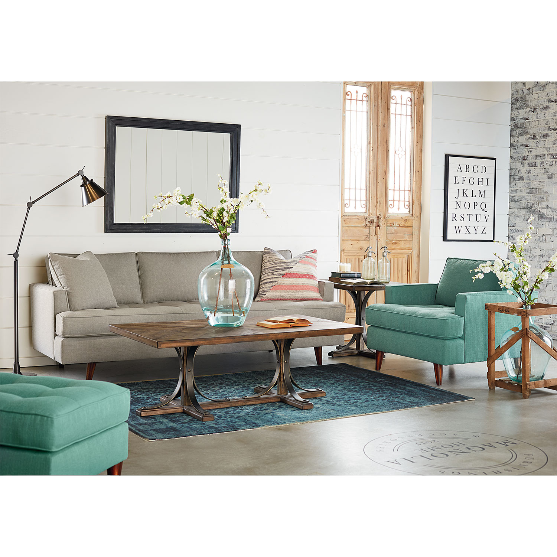 traditional iron trestle hall table value city furniture. Black Bedroom Furniture Sets. Home Design Ideas