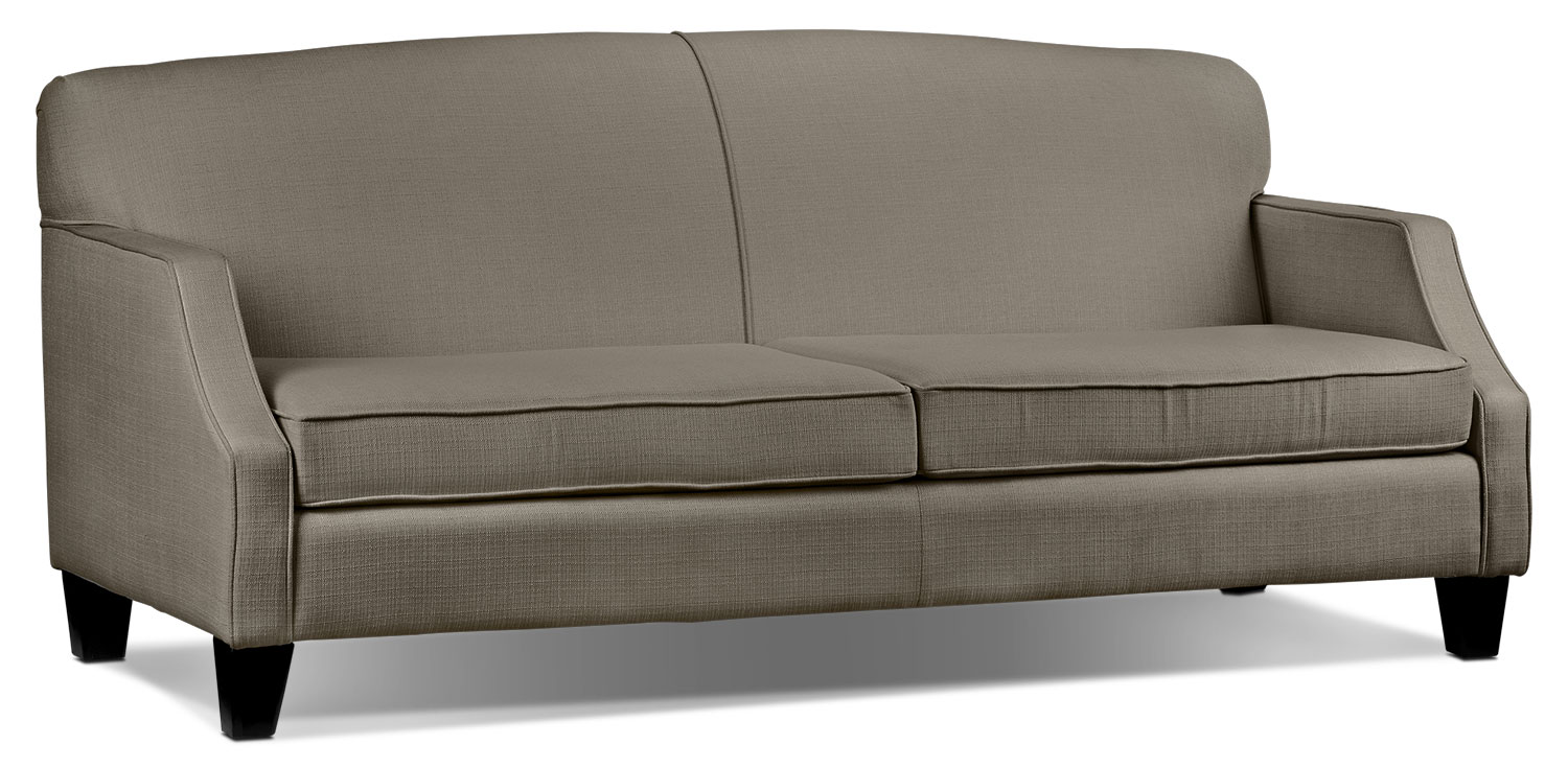 Living Room Furniture - Klein Sofa - Grey