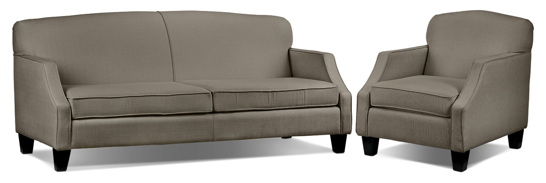 Klein Sofa and Chair Set - Grey