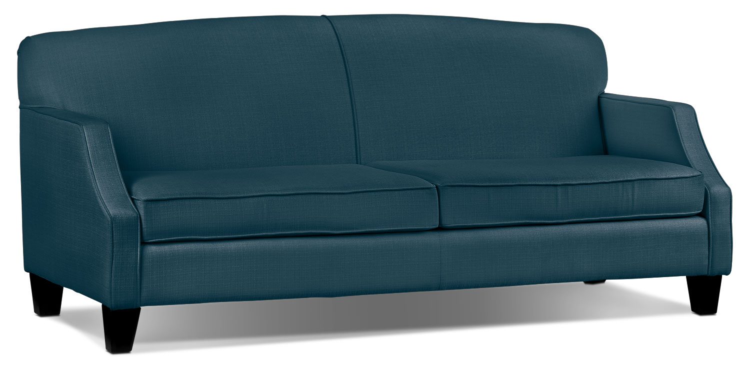 Living Room Furniture - Klein Sofa - Azure